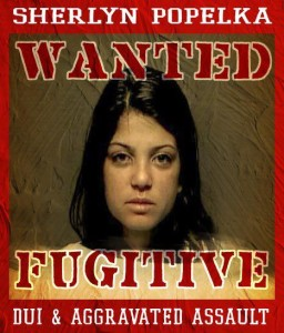 Sherlyn_Popelka_DUI_Assault_Wanted_Fugitive